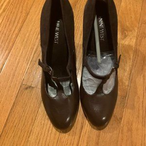Nine West Brown Mary Jane heels